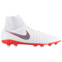 Nike Magista Obra 2 Academy DF FG - Men's - White / Red