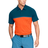 Under Armour Threadborne Calibrate Golf Polo - Men's - Blue / Orange