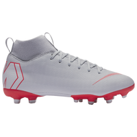 Nike Mercurial Superfly 6 Academy MG - Boys' Grade School - Grey / Red