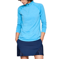 Under Armour Threadborne Seamless Golf  1/4 Zip - Women's - Light Blue