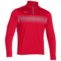 Under Armour Team Qualifier Novelty 1/4 Zip - Men's - Red / Grey
