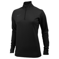 Nike Team Dri-FIT 1/2 Zip - Women's - All Black / Black