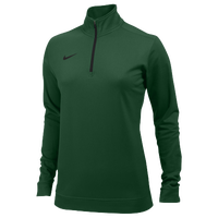 Nike Team Dri-FIT 1/2 Zip - Women's - Dark Green / Dark Green