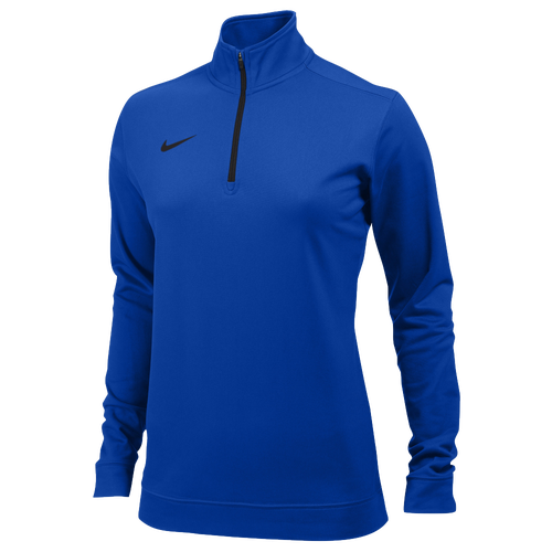 Nike Team Dri-FIT 1/2 Zip - Women's For All Sports - Team Game Royal/Black 7448493