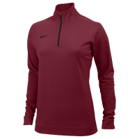 Nike Team Dri-FIT 1/2 Zip - Women's - Red / Black