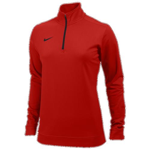Nike Team Dri-FIT 1/2 Zip - Women's For All Sports - Team University Red/Black 7448657