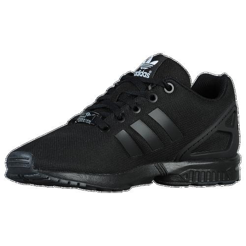 adidas Originals ZX Flux - Boys' Preschool - Casual - Shoes - Black/Black/ Black