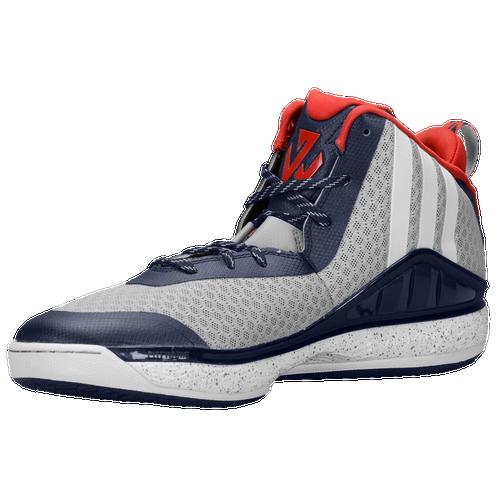 Adidas J Basket Muro Uomini Scarpe Da Basket J Di Alluminio / Bianco / Marina 373123