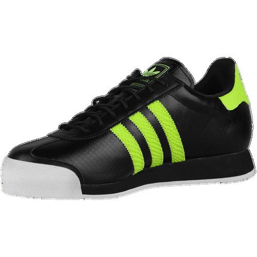 Adidas Originales Samoa hombres casual zapatos negro / amarillo solar