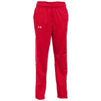 Under Armour Team Rival Knit Warm-Up Pants - Women's - Red / White