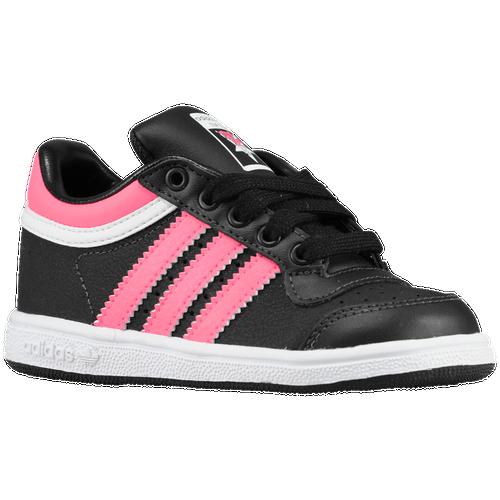 381c7e41aff adidas Originals Top Ten Low Boys Toddler Basketball Shoes Black Bold Pink  White free shipping