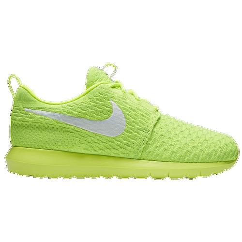 8c4adbe79c45 ... wholesale nike roshe flyknit mens running shoes volt electric green  white c382b d424f