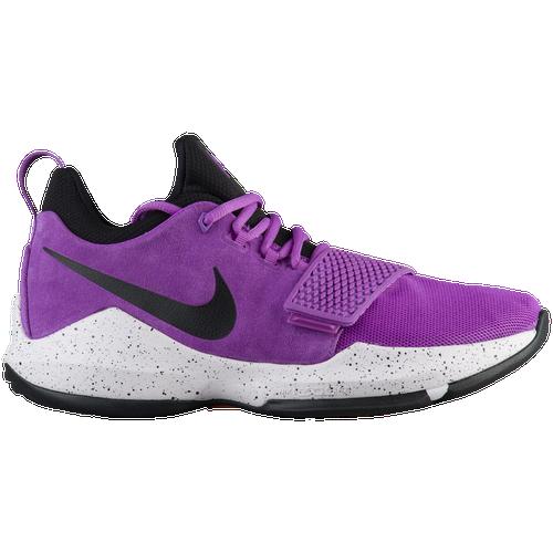 Nike PG 1 - Men's - Basketball - Shoes - Paul George - Bright Violet/Black/White/Total  Orange