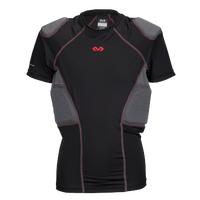 McDavid Rival Pro 5 Pad Short Sleeve Shirt - Grade School - Black / Grey