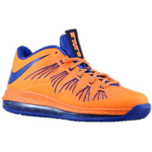 Nike Air Max LeBron X Low - Men's Basketball - Bright Citrus/Blackened Blue/White/Hyper Blue 79765800