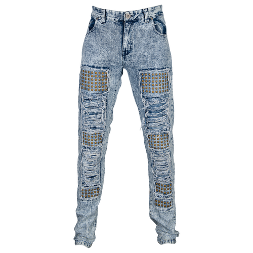DNM Stud Denim Jeans - Men's Casual - Blue 7B149BLU