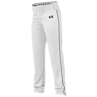 Under Armour Team Next Open Bottom Baseall Pants - Boys' Grade School - White
