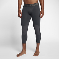 Nike Basketball 3/4 Tights - Men's - Black / Grey