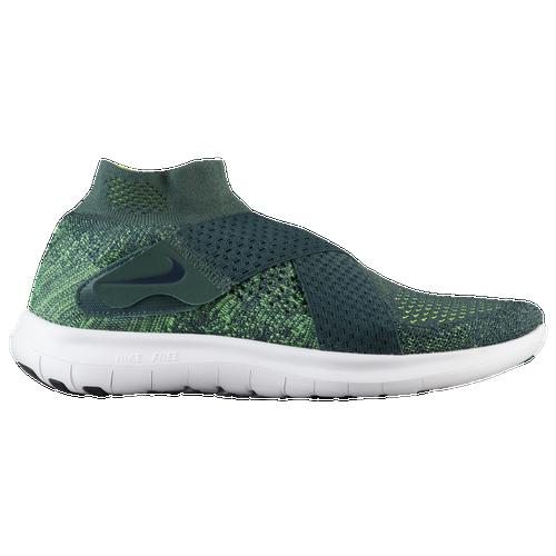 Nike Free RN Motion Flyknit 2017 - Women's Running Shoes - Vintage Green/Vlot/Obsidian/Barely Volt 80846301