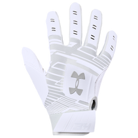 Under Armour Harper Hustle Batting Gloves - Grade School - White