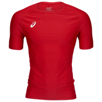 ASICS® Wrestling Compression Short Sleeve Top - Men's - Red