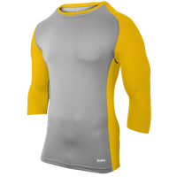 Eastbay Baseball Compression Top - Men's - Grey / Gold