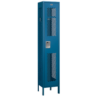 Salsbury Unassembled Single Tier Vented Locker - Blue / Blue