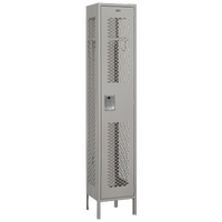 Salsbury Assembled Single Tier Vented Locker - Grey / Grey