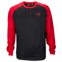 Under Armour Training Warm-Up Henley - Men's - Black / Red