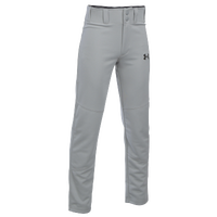 Under Armour Leadoff  III Open Bottom Pants - Boys' Grade School - Grey / Grey