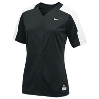 Nike Team Vapor Pro Full Button Jersey - Women's - Black / White