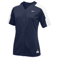 Nike Team Vapor Pro Full Button Jersey - Women's - Navy / White