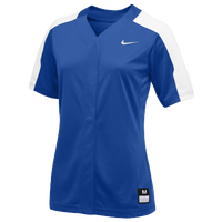 Nike Team Vapor Pro Full Button Jersey - Women's - Blue / White