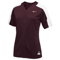 Nike Team Vapor Pro Full Button Jersey - Women's - Maroon / White