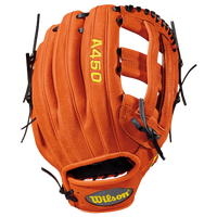 Wilson A450 Fielder's Glove - Boys' Grade School - Orange / Black