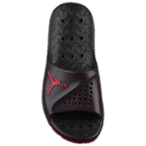 Jordan Super.Fly Team Slide 2 - Men's Casual - Black/University Red/Dark Team Red 81572006