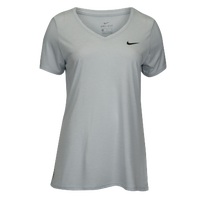 Nike Team Short Sleeve V-Neck Legend T-Shirt - Women's - All White / White