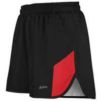 "Eastbay Team 2"" 2 Color Split Track Short 2.0 - Men's - Black / Red"