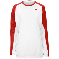 7c142ed01 Nike Team Elite L/S Shooting Shirt - Women's - White / Red
