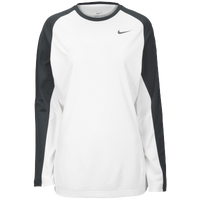 Nike Team Elite L/S Shooting Shirt - Women's - White / Grey