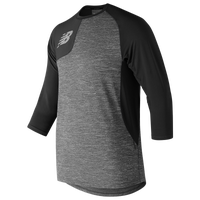 New Balance ASYM 2.0 Right Shirt 3/4 Sleeve - Men's - Black / Grey