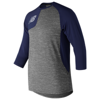 New Balance ASYM 2.0 Right Shirt 3/4 Sleeve - Men's - Navy / Grey