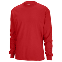 Gildan Team 50/50 Dry-Blend Long Sleeve T-Shirt - Men's - Red / Red