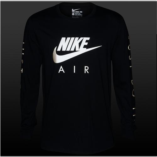 Nike Graphic Long Sleeve T Shirt Men S Casual Clothing Black
