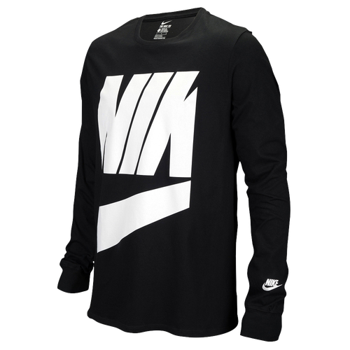 2ad830d96 Nike Graphic Long Sleeve T-Shirt - Men's - Casual - Clothing - Black ...