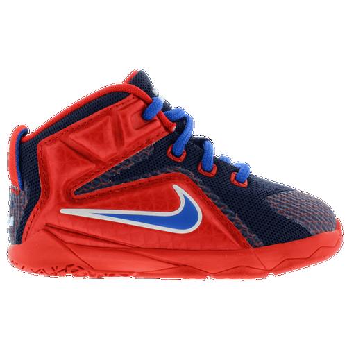 fb0fbd0adbe17 ... canada nike lebron 12 boys toddler basketball shoes lebron james  university red midnight navy lyon blue ...
