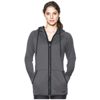 under armour hoodies womens. under armour storm fleece long f/z hoodie - women\u0027s grey / black hoodies womens