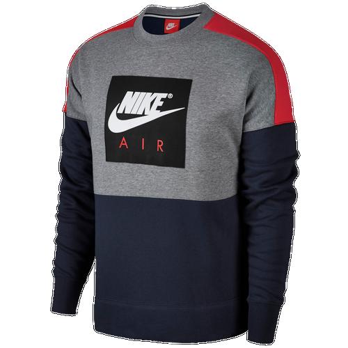 Nike Air Fleece Crew - Men's Casual - Light Bone/Dark Stucco/Sequoia 86050072