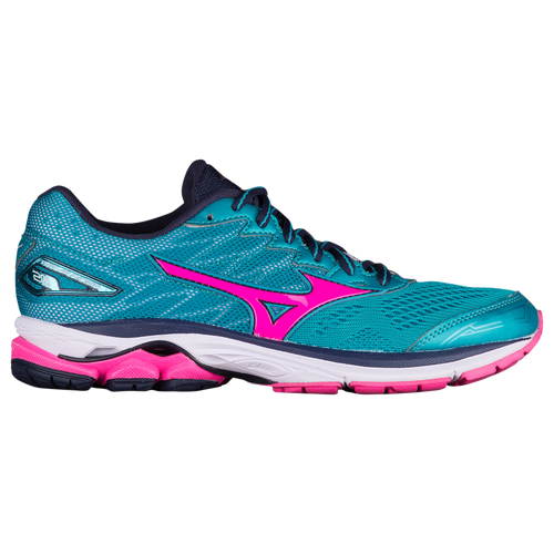 Mizuno Wave Rider 20  Womens  Running  Shoes  Tile Blue Pink  Glo Peacoat