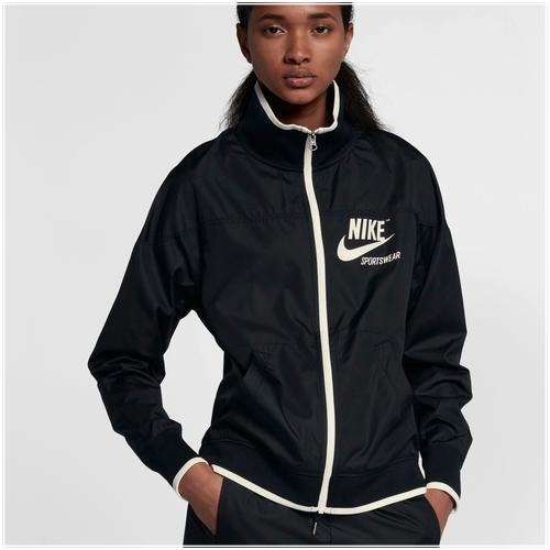 Nike Archive Jacket - Women's Casual - Black/Sail 86946010
